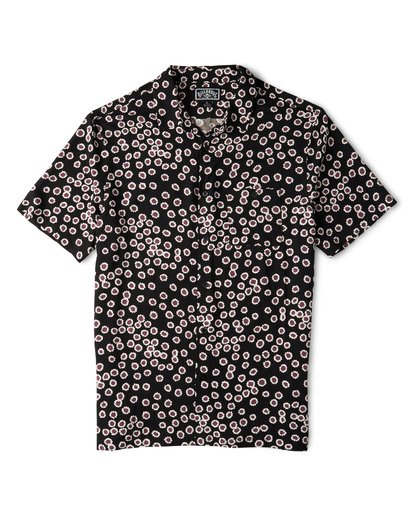 3 Sundays Daisy Short Sleeve Shirt Black M502WBSR Billabong