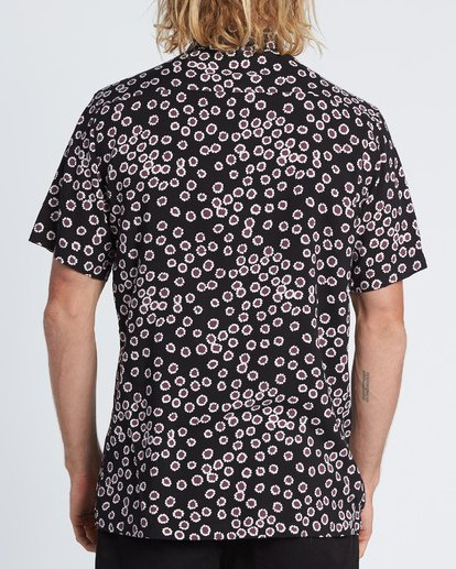 2 Sundays Daisy Short Sleeve Shirt Black M502WBSR Billabong