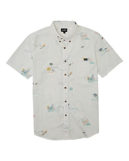 3 Sundays Mini Short Sleeve Shirt White M5031BSM Billabong