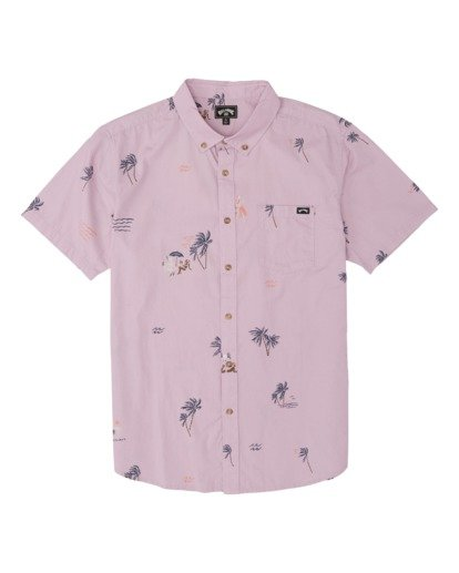 3 Sundays Mini Short Sleeve Shirt Pink M5031BSM Billabong