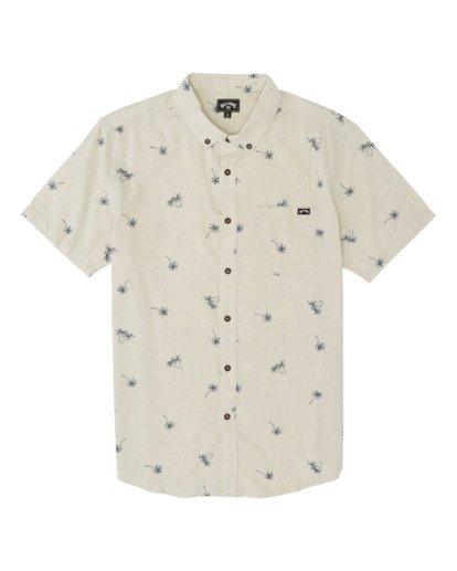 3 Sundays Mini Short Sleeve Shirt Beige M5031BSM Billabong