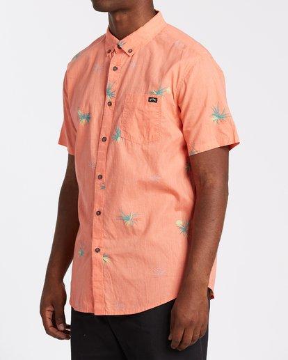 1 Sundays Mini Short Sleeve Shirt Orange M5031BSM Billabong