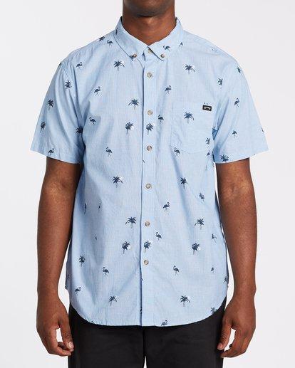 0 Sundays Mini Short Sleeve Shirt Brown M5031BSM Billabong
