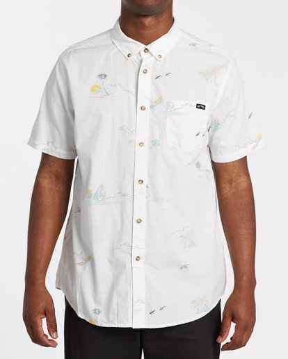 0 Sundays Mini Short Sleeve Shirt White M5031BSM Billabong