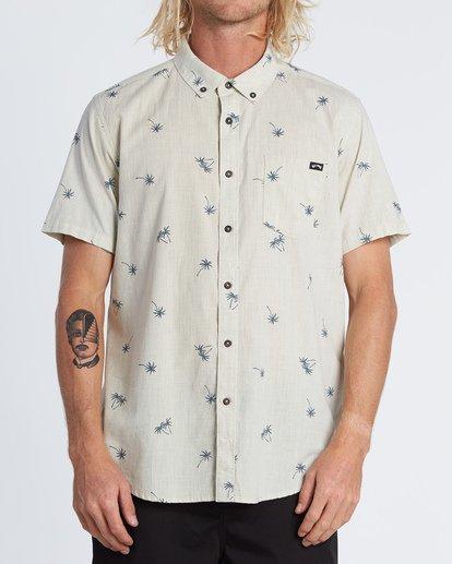 0 Sundays Mini Short Sleeve Shirt Beige M5031BSM Billabong
