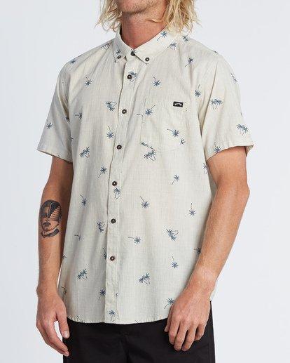 1 Sundays Mini Short Sleeve Shirt Beige M5031BSM Billabong