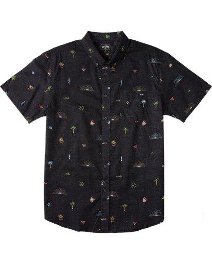 0 Sundays Mini Short Sleeve Shirt Orange M5033BSM Billabong