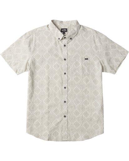 0 Sundays Mini Short Sleeve Shirt White M5033BSM Billabong