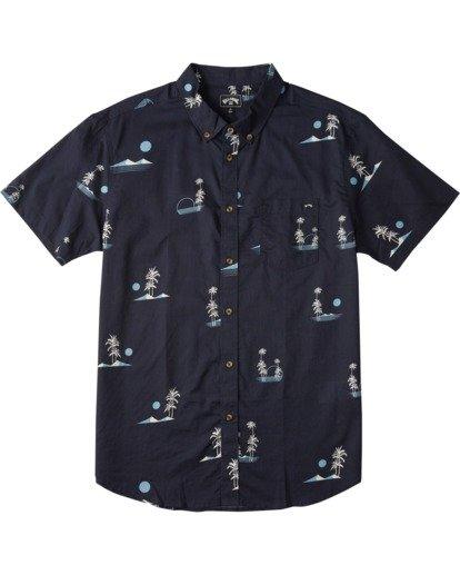 4 Sundays Mini Short Sleeve Shirt Blue M5033BSM Billabong