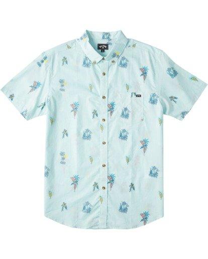 4 Sundays Mini Short Sleeve Shirt Green M5033BSM Billabong