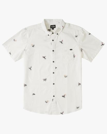4 Sundays Mini Short Sleeve Shirt White M5033BSM Billabong