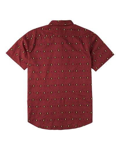 1 Sundays Mini Short Sleeve Shirt Red M5033BSM Billabong