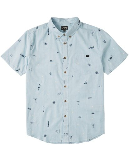 3 Sundays Mini Short Sleeve Shirt Blue M5033BSM Billabong