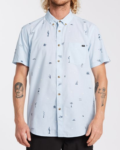 0 Sundays Mini Short Sleeve Shirt Blue M5033BSM Billabong