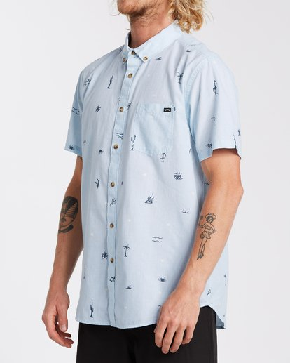 1 Sundays Mini Short Sleeve Shirt Blue M5033BSM Billabong
