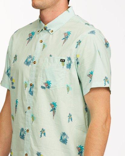 3 Sundays Mini Short Sleeve Shirt Green M5033BSM Billabong
