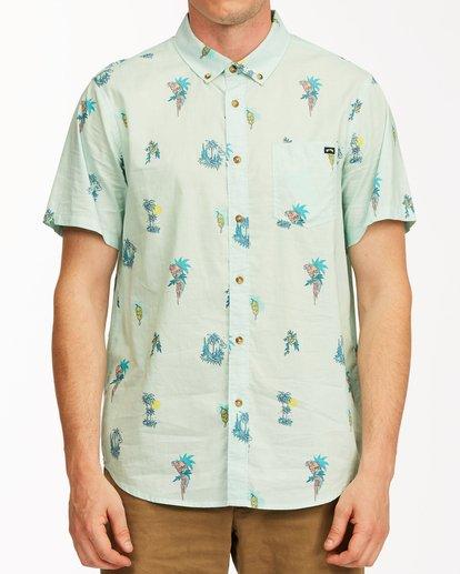 0 Sundays Mini Short Sleeve Shirt Green M5033BSM Billabong