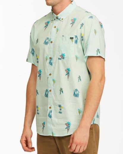1 Sundays Mini Short Sleeve Shirt Green M5033BSM Billabong