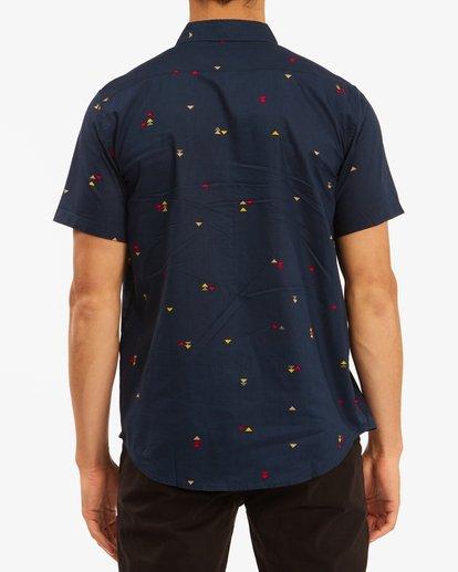 2 Sundays Mini Short Sleeve Shirt Blue M5033BSM Billabong