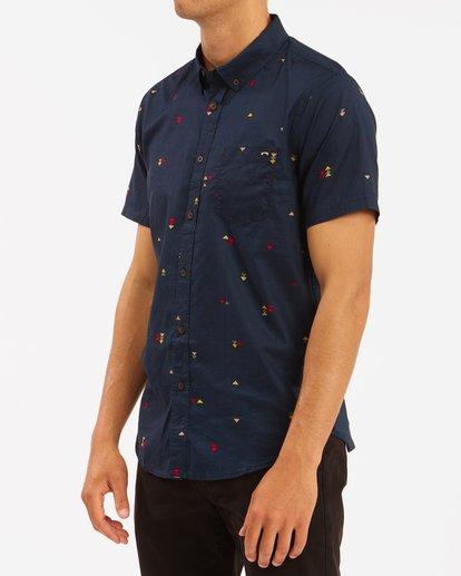 1 Sundays Mini Short Sleeve Shirt Blue M5033BSM Billabong