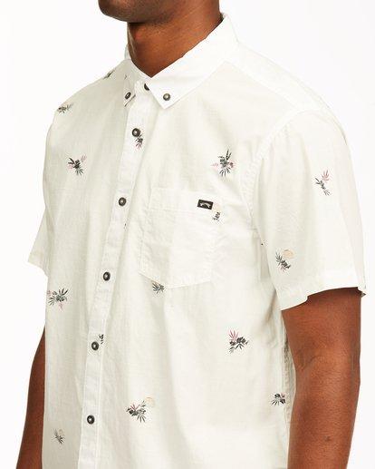 3 Sundays Mini Short Sleeve Shirt White M5033BSM Billabong