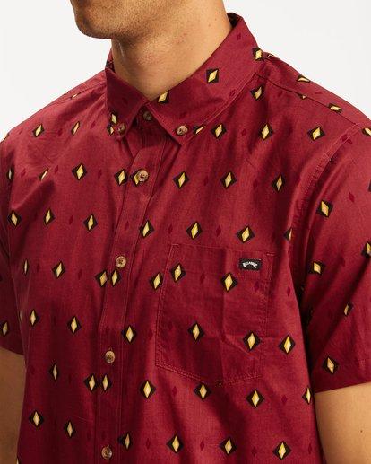 3 Sundays Mini Short Sleeve Shirt Red M5033BSM Billabong