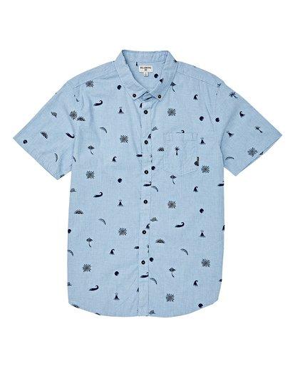 4 Sundays Mini Short Sleeve Shirt Blue M503VBSM Billabong