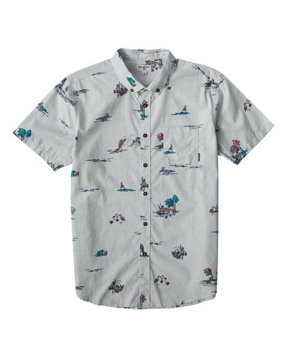 0 Sundays Mini Short Sleeve Shirt White M503VBSM Billabong