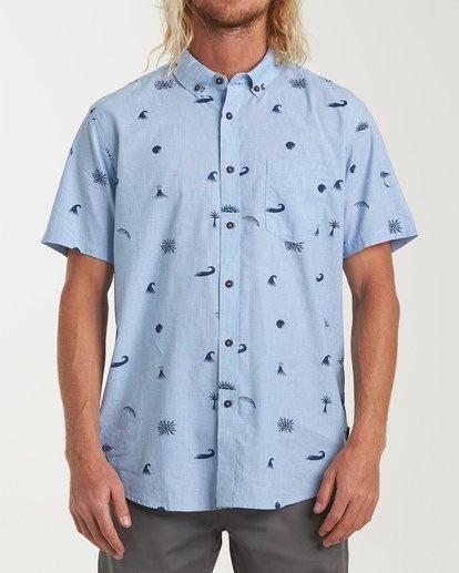 0 Sundays Mini Short Sleeve Shirt Brown M503VBSM Billabong