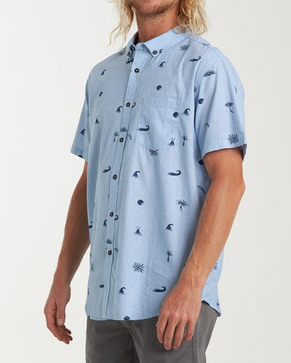 1 Sundays Mini Short Sleeve Shirt Brown M503VBSM Billabong