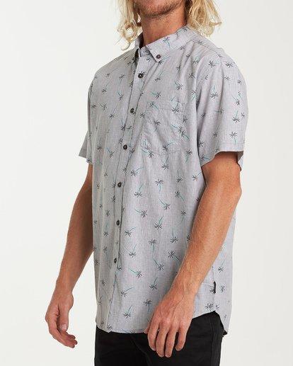 1 Sundays Mini Short Sleeve Shirt Grey M503VBSM Billabong