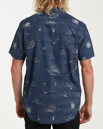 2 Sundays Mini Short Sleeve Shirt Blue M503VBSM Billabong