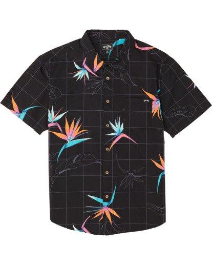 3 Sundays Floral Short Sleeve Shirt Orange M5041BSF Billabong