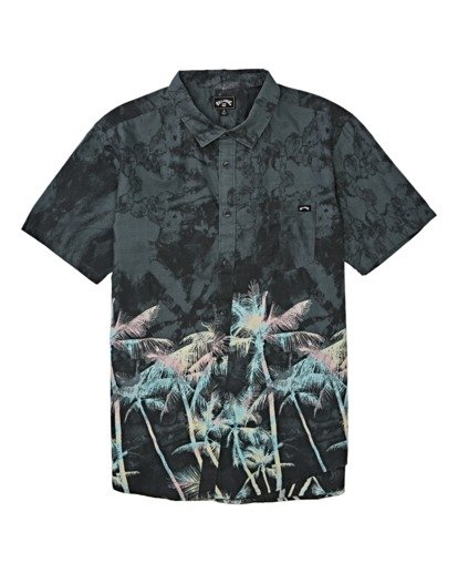 3 Sundays Floral Short Sleeve Shirt Black M5041BSF Billabong