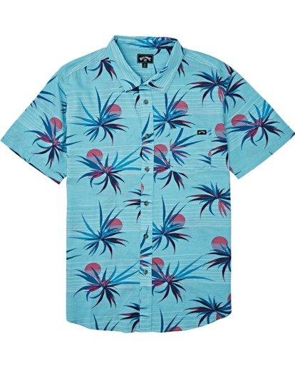 3 Sundays Floral Short Sleeve Shirt Blue M5041BSF Billabong