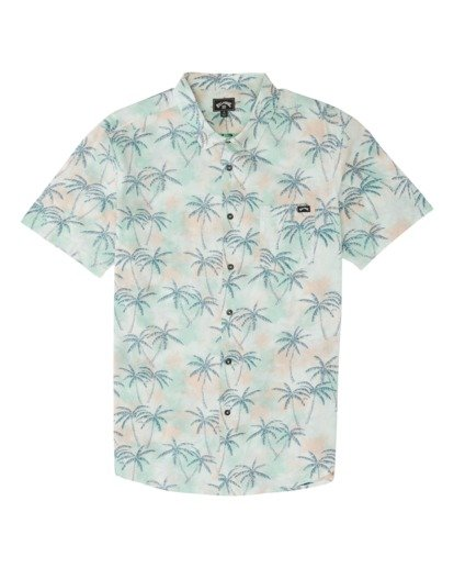 3 Sundays Floral Short Sleeve Shirt Grey M5041BSF Billabong