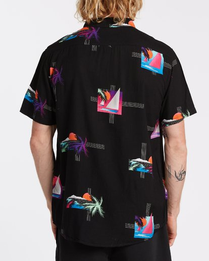 2 Sundays Floral Short Sleeve Shirt Black M5041BSF Billabong