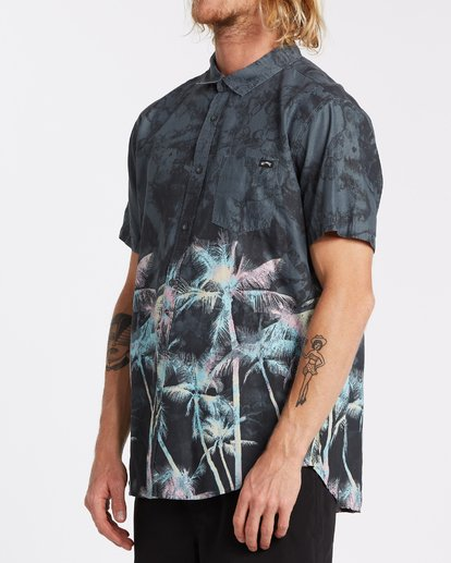 1 Sundays Floral Short Sleeve Shirt Black M5041BSF Billabong