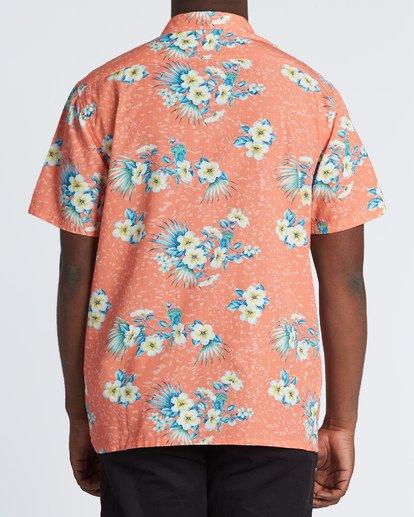2 Sundays Floral Short Sleeve Shirt Orange M5041BSF Billabong