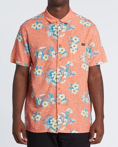 0 Sundays Floral Short Sleeve Shirt Orange M5041BSF Billabong