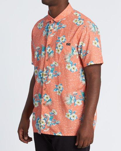 1 Sundays Floral Short Sleeve Shirt Orange M5041BSF Billabong