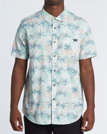 0 Sundays Floral Short Sleeve Shirt Grey M5041BSF Billabong