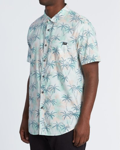 1 Sundays Floral Short Sleeve Shirt Grey M5041BSF Billabong