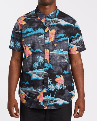 0 Sundays Floral Short Sleeve Shirt Multicolor M5041BSF Billabong