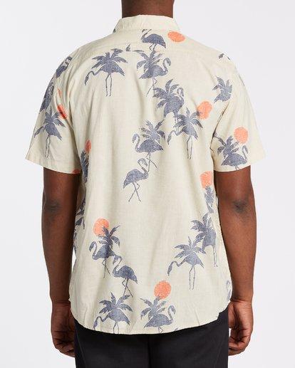 2 Sundays Floral Short Sleeve Shirt Beige M5041BSF Billabong