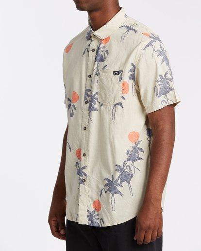 1 Sundays Floral Short Sleeve Shirt Beige M5041BSF Billabong