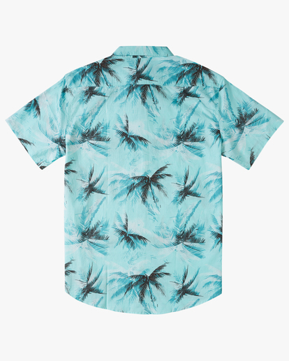 5 Sundays Floral Short Sleeve Shirt Blue M5043BSF Billabong