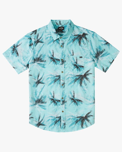 4 Sundays Floral Short Sleeve Shirt Blue M5043BSF Billabong