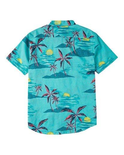 5 Sundays Floral Short Sleeve Shirt Green M5043BSF Billabong