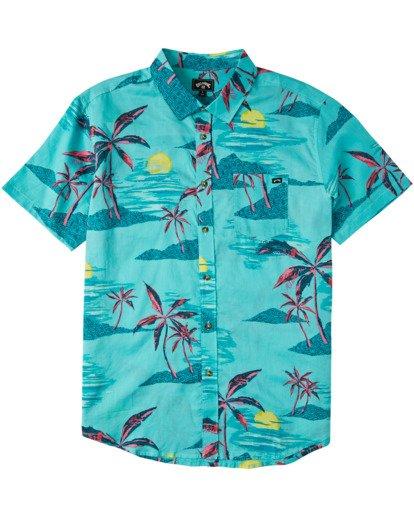 4 Sundays Floral Short Sleeve Shirt Green M5043BSF Billabong